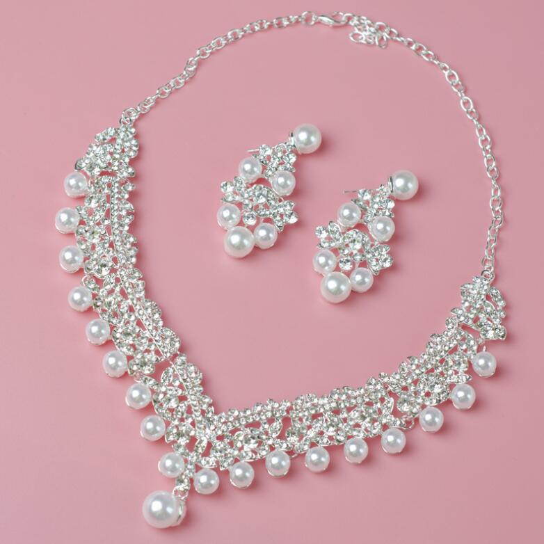 Pearl Wedding Bridal Jewelry Set