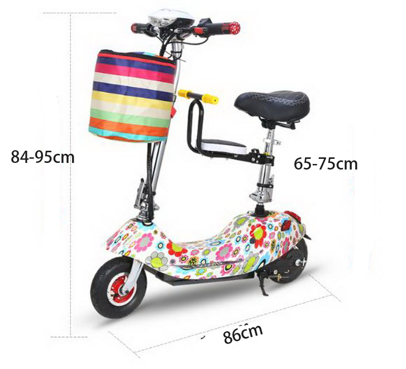 Perfect 261025/Ladies mini folding car bicycle scooter adult student portable two rounds/Scrub pedal 30-50km/h velo electrique 19