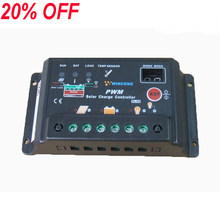 20A 12 v 24 v Controlador de Carga Solar Regulador Controlador de Carga Painel Autoswitch Barata Solar
