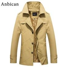 Business Leisure Men's Winter Jacket 2016 Brand New Thick and Warm Parka Coat Male Khaki Parkas Casual Jacket Plus Size M-4XL
