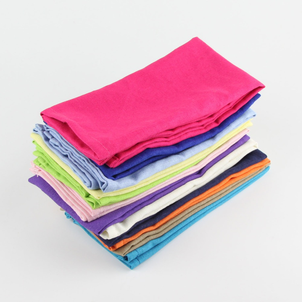 Home Textile Fine 42x63cm 5pcs Cotton Table Napkins Home Kitchen Waffle Pattern Washcloths Tea Towel Absorbent Dish Cleaning Towels For Restaurant Table & Sofa Linens