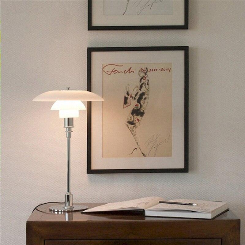 E14 Стекло настольная лампа Nordic моды гостиная спальня прикроватный настольная лампа творческий Таблица освещения xdmt01-22