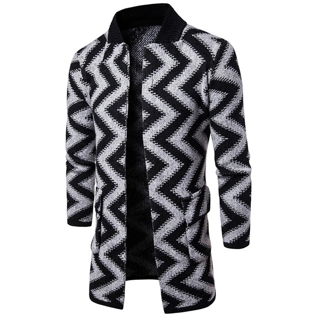 font b Men s b font Knit Cardigan Thick font b Sweater b font Coat