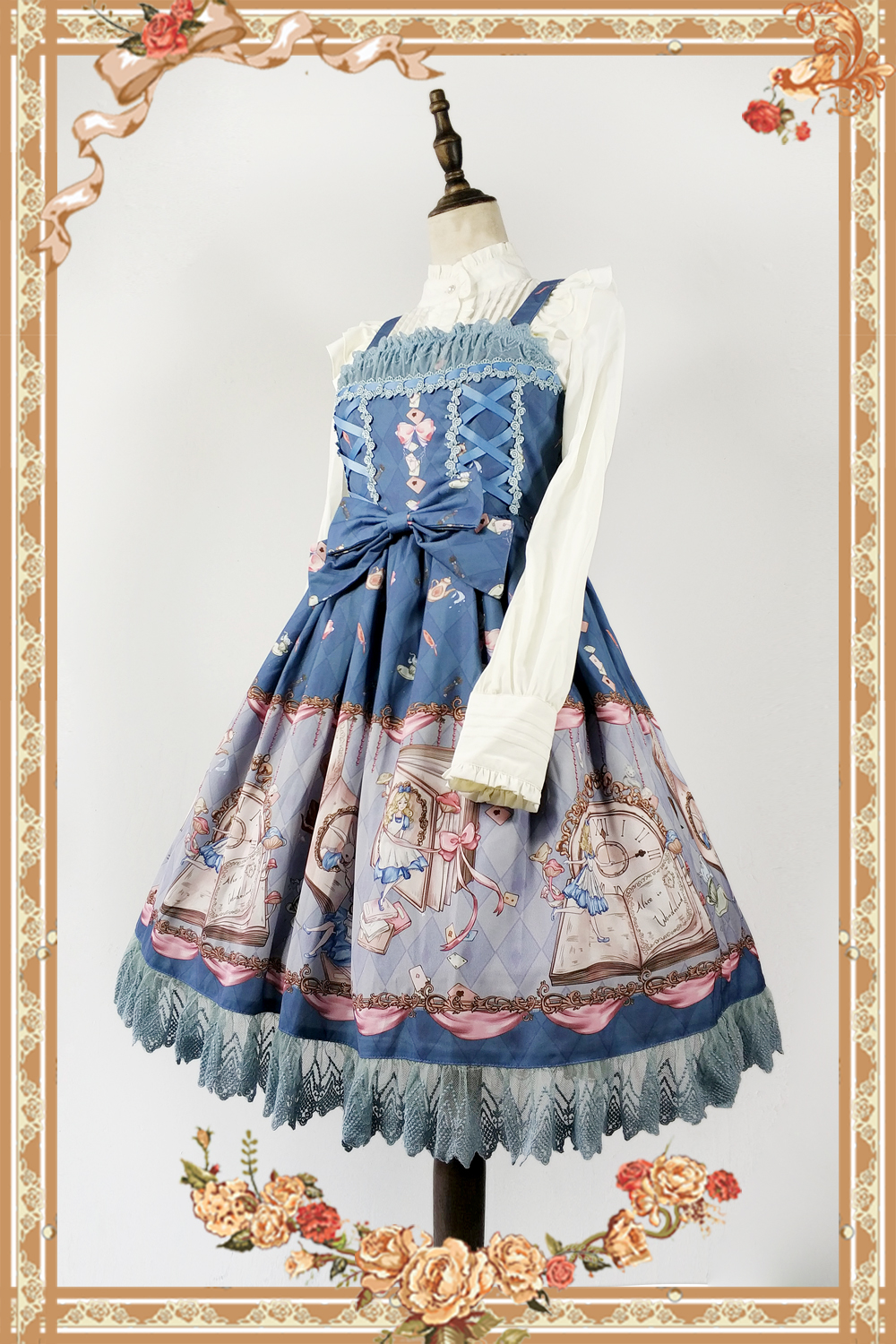 The Book Of Alices Mysterious Land ~ Sweet Printed Lolita JSK Dress by Infanta