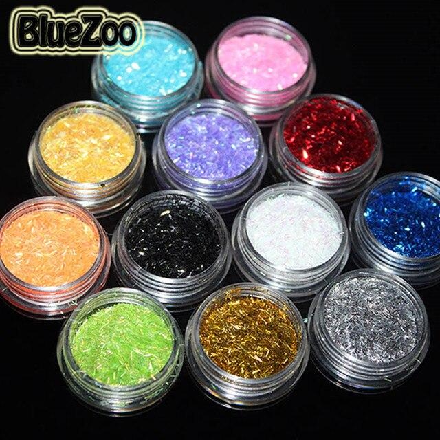Aliexpress.com : Buy BlueZoo 12 Pots/pack Different Color Glitter ...