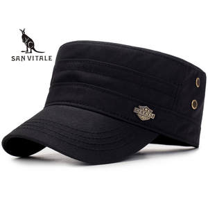 SAN VITALE Baseball Cap Men Dad Polo Black Designer Casual a71eec5e81f3