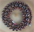 """Envío caliente de la nueva joyería Hermosa de la Manera DIY hecho a mano de perlas Naturales 5-12mm Granate Jasper Cuentas de Collar de 17 """"sp167"""