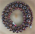 "Free hot new  Beautiful Fashion jewelry DIY handmade beads Natural 5-12mm Garnet Jasper Beads Necklace 17""  sp167"
