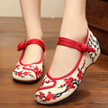 2016 summer new Old BeiJing Embroidery shoes Chinese National embroidered canvas soft women's singles dance walking shoes