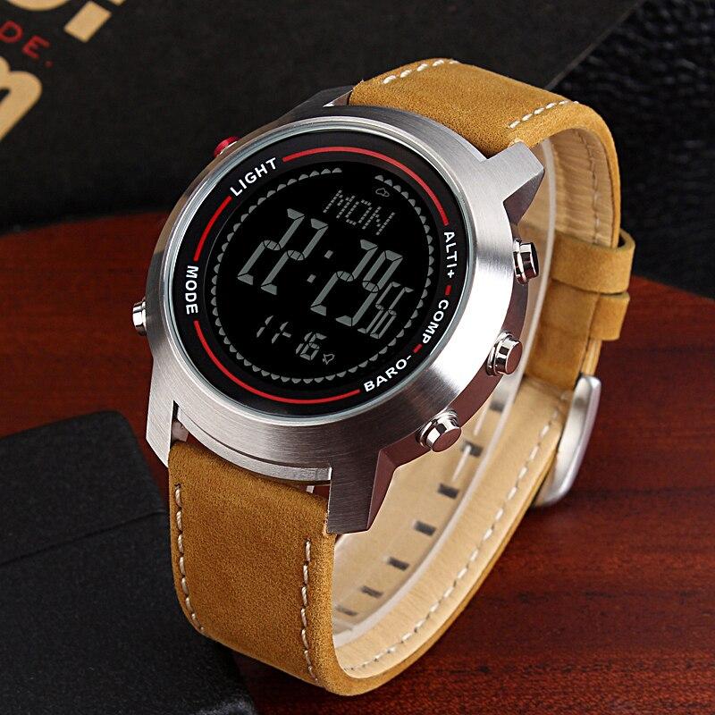 CAINO hommes sport montres numériques boussole altimètre baromètre bande de cuir mode montres d'extérieur horloge Relogio Masculino - 2