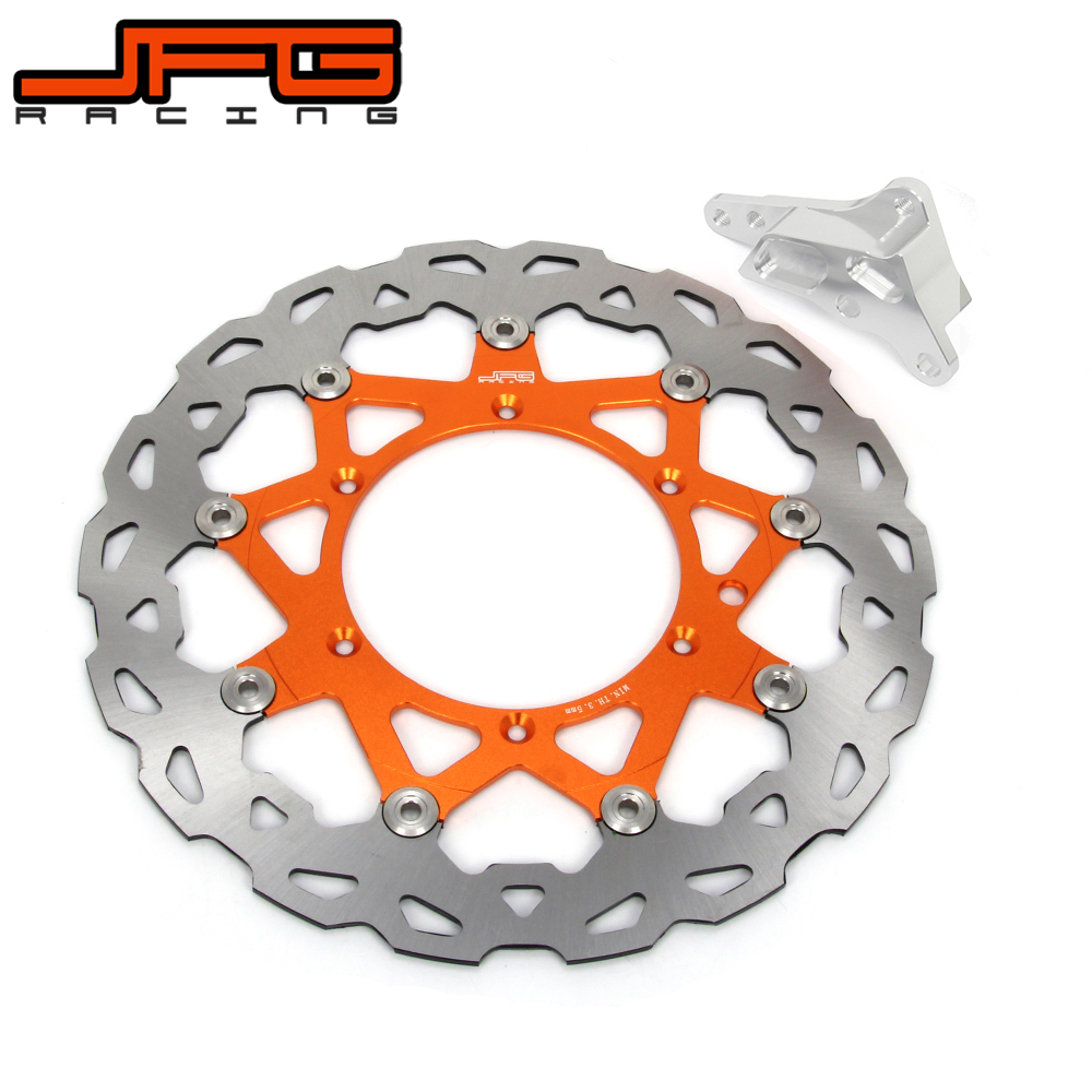 Motorcycle 320MM Floating Brake Disc + Bracket Fit For 4 Pot Caliper HF6 KTM SX XC XCW SXF XCF XCFW EXC 125-530 Supermoto Motard motorcycle front rider seat leather cover for ktm 125 200 390 duke