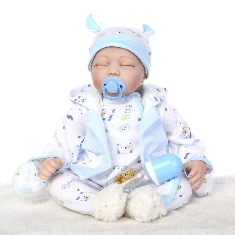 55cm soft body reborn baby doll toy for girl Lifelike vinyl boy baby doll  birthday present to child bedtime early education toy55cm soft body reborn baby doll toy for girl Lifelike vinyl boy baby doll  birthday present to child bedtime early education toy