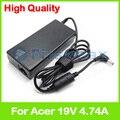 19 В 4.74A 90 Вт ноутбук зарядное устройство ac адаптер питания для Acer Aspire 5741 Г 5741ZG 5742 Г 5742Z 5745 Г 5745PG 5745Z 5749 Г 5749Z 5750 Г