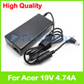 19 v 4.74a 90 w laptop charger ac power adapter para acer Aspire 5741G 5741ZG 5742G 5742Z 5745G 5745PG 5745Z 5749G 5749Z 5750G