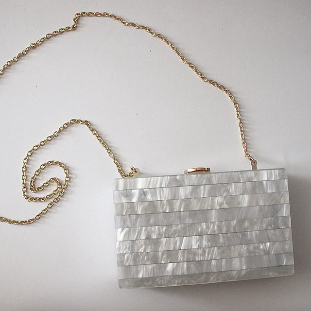 Elegant Unique Marble Striped Shoulder Bag