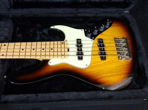 Tangwood Top Qualité GYJB-5012 VS couleur avec perle Blanche Plaque Jazz Bass Guitare, Peut être Personnalisé, livraison gratuite