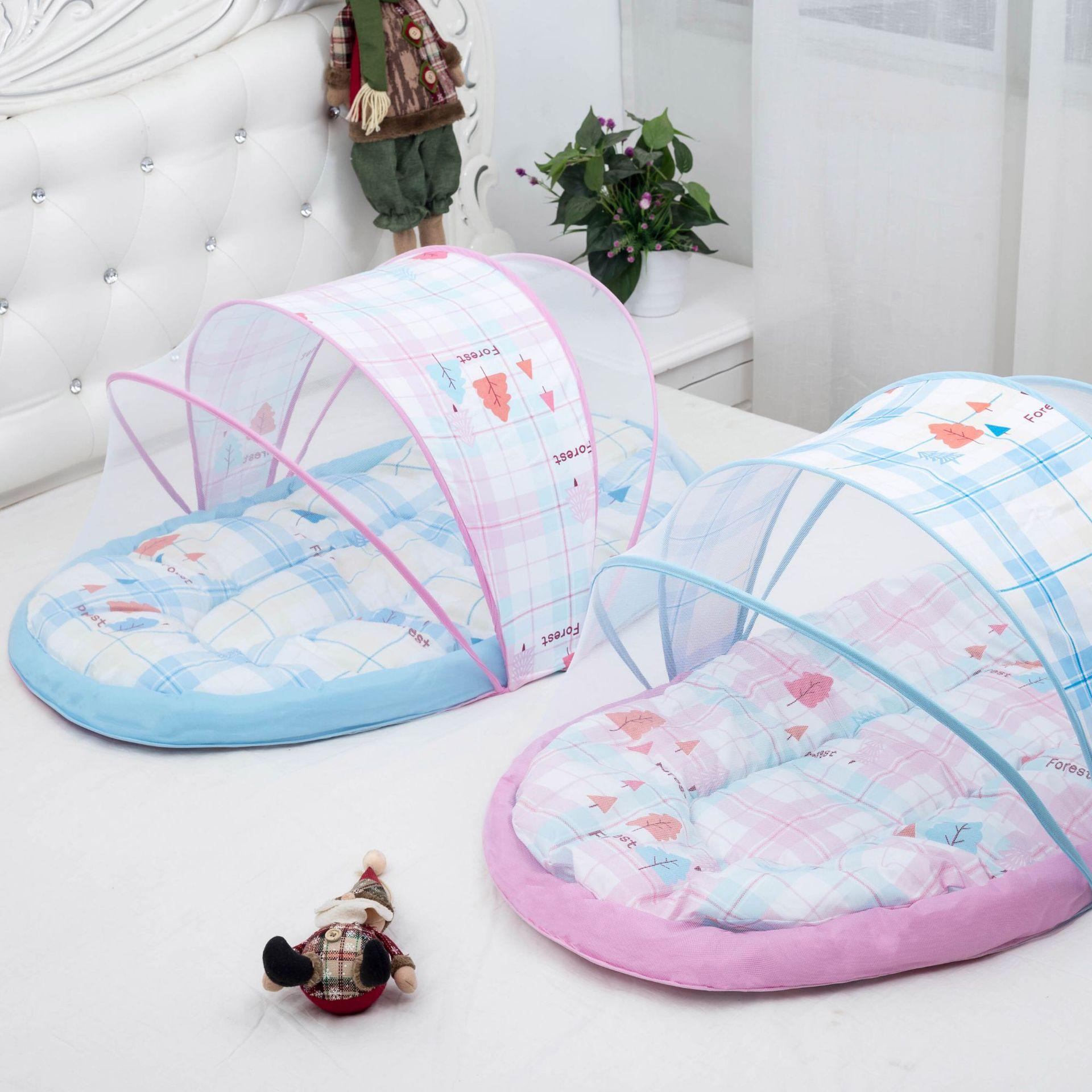 Portable Baby Crib Mosquito Net Tent Multi-Function Infant Foldable Mosquito Netting for ...