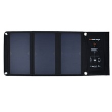 High Quality 21W Portable Foldable Solar Panel Charger Dual USB Ports Solar Phone/Tablet/Battery Charger for iphone Sumsung HTC