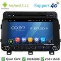 "Quad Core 8 ""HD 1024*600 Android 5.1.1 Pantalla Coche Reproductor de DVD de Radio Estéreo USB FM DAB + 3G/4G WIFI Mapa GPS Para Kia K5 OPTIMA 2014"