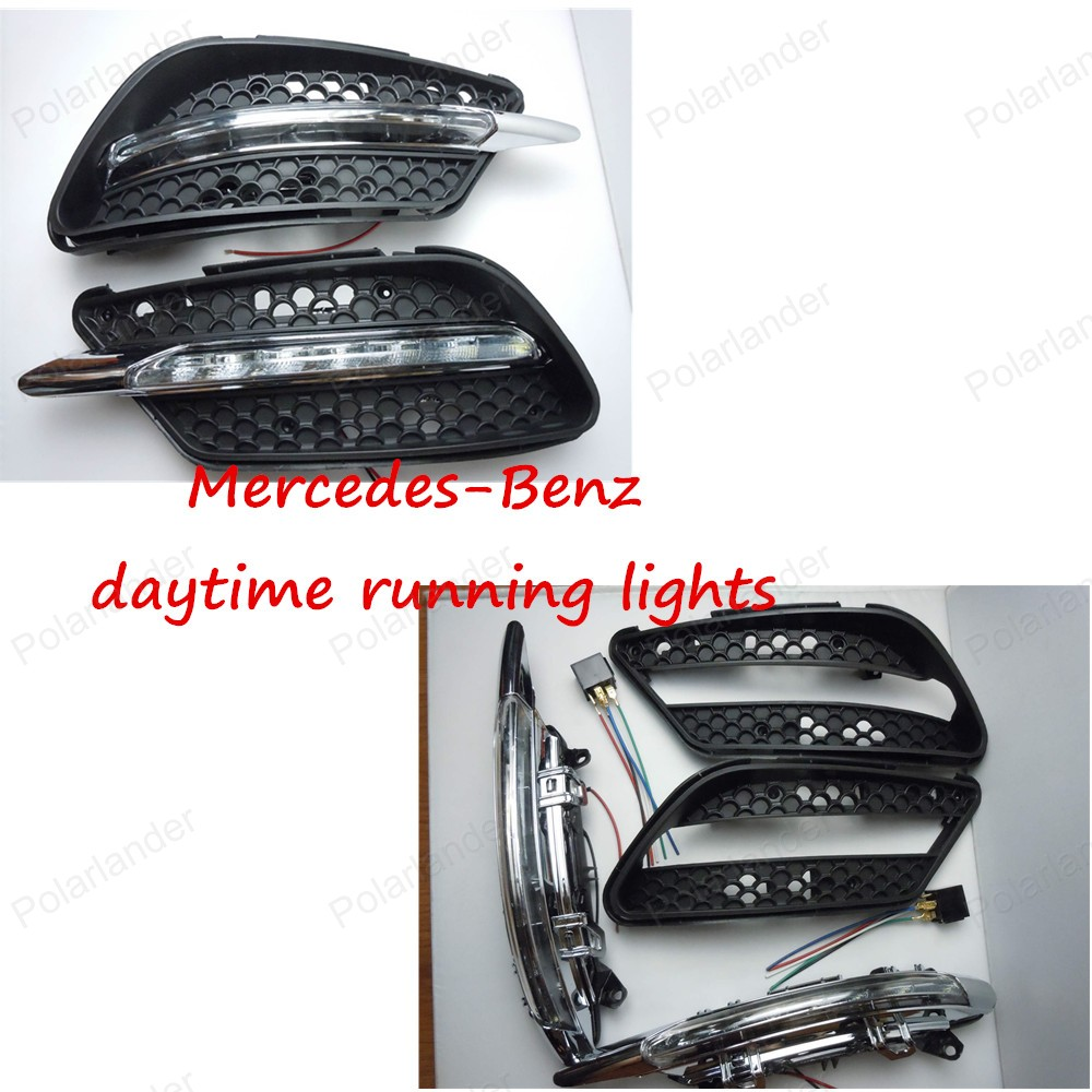 Yeats Led Daytime Running Lights Drl Led Front Bumper Fog: DRL High Light Car LED Day Running Lights, Auto Front