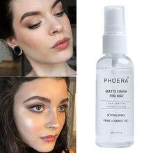 PHOERA 50ML Matte Face Primer Makeup Transparent Oil Control Natural Long Lastin