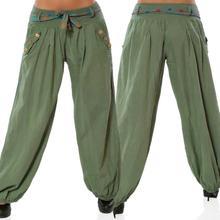 MIARHB Summer NEW Fashion Ladies Women Solid Low Waist Boho Check Pants Baggy Wide Leg Casual Capris Wholesale Freeship N4