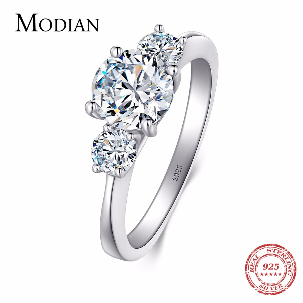 2018 New 2Ct 925 Sterling Silver Ring for Women Ten Hearts CZ Wedding Ring Brand O anillos anel aneis Crystal Wholesale Jewelry