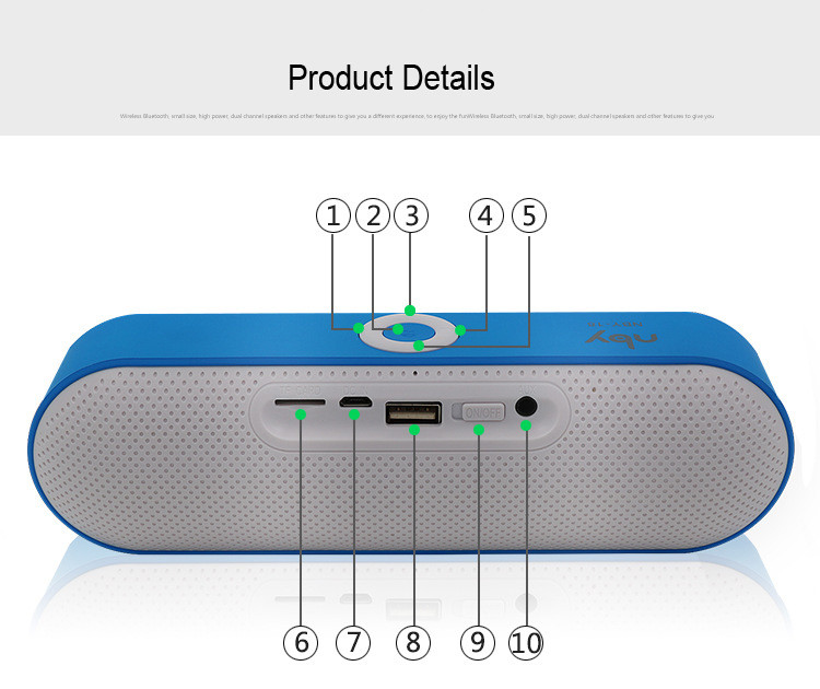 New NBY 18 Mini Bluetooth Speaker Portable Wireless Speaker Sound System 3D Stereo Music Surround Support Bluetooth,TF AUX USB