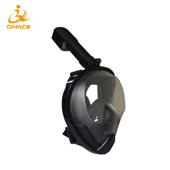 SMACO Original Snorkel Mask Full Face Scuba Diving Mask 180 Degree View Snorkeling Goggle Dry Top Set  Anti-fog For Kids Adults