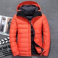 Hot Sale 2019 New Fashion Brand High Quality Down Jacket Men light Slim Fit Zipper Down Coat Thick Russia Winter Men Jacket