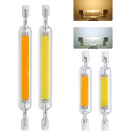 10X R7S LED 118mm 78mm Dimmable COB Lamp Bulb Glass Tube 6W 12W 20W Replace Halogen Lamp Light AC 110V 220V 230V R7S Spotlight