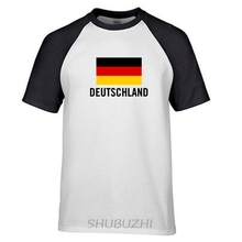 Germany deutschland shirt man socceres jerseys t-shirt cotton nation team cotton meeting fans raglan streetwear ringer Tee(China)