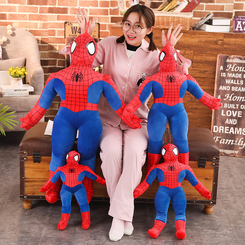 1pc 50-100cm Hot Sale High Quality Super Hero Spider-Man Movie Figure Soft Spiderman Plush Toy Doll Birthday Gifts For Children