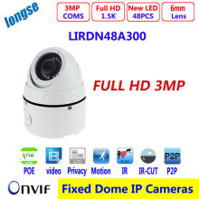 Vandalproof  POE IP camera, IR dome 6mm lens 1/2.8″ SONY 3.2MP support WDR Motion ONVIF 2.0, P2P day/night version