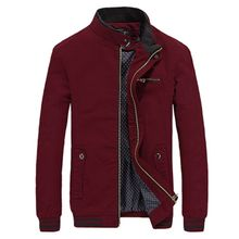 Brieuces Brand New Autumn Men Casual Jacket Coat Mens Fashion Washed 100% Cotton Brand-Clothing Jackets Male Coats Zipper Sales