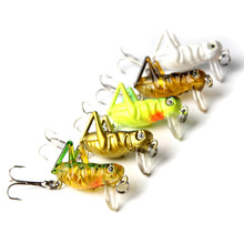 5Pcs 4cm Grasshopper Insect Baits Fishing Lures Wobblers Crankbaits for Carp Lifelike Hard Plastic Pesca Isca Bass