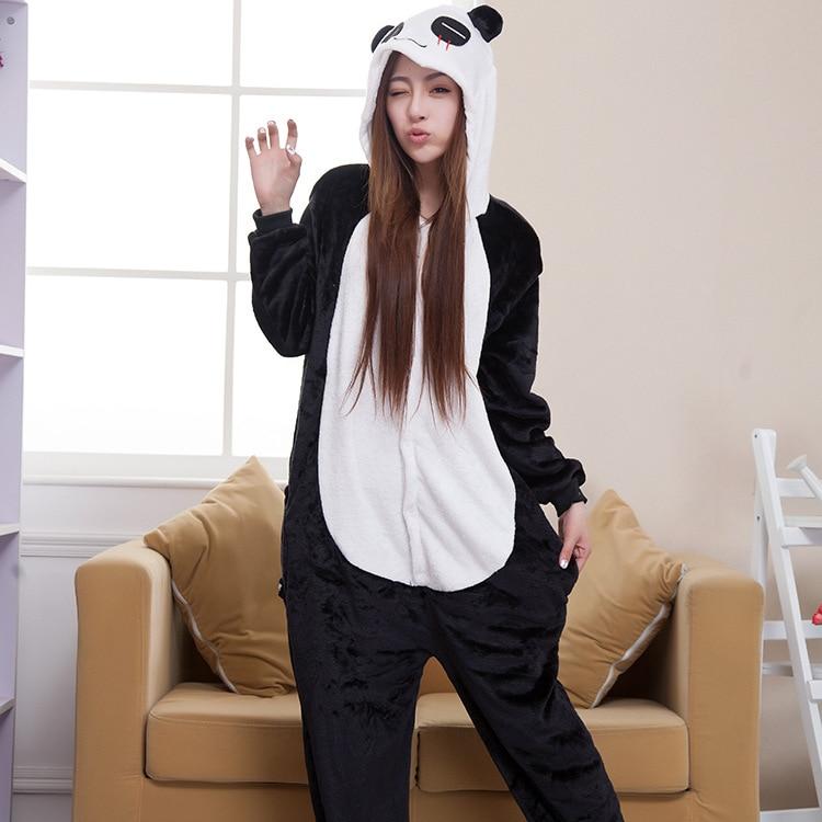 Halloween Autumn and Winter Pajama Sets Cartoon Sleepwear Women Pajamas Christmas Flannel Animal  Panda Pajama