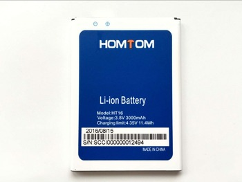 HOMTOM HT16 Battery 100% Original Replacement 3000mAh li-ion Back-up for Pro Smartphone