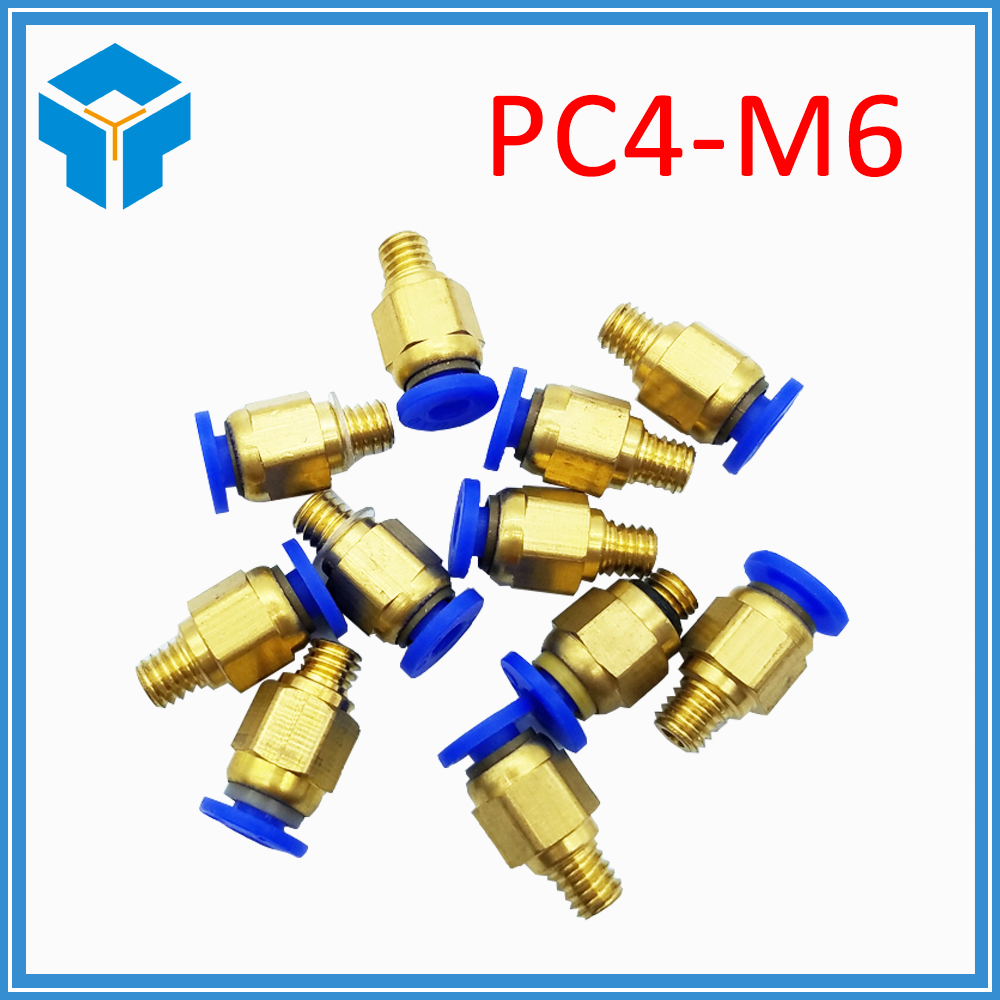 3D Printer 3D V5 J-head Pneumatic Connectors PC4-01/ PC6-01 1.75/3mm PTFE Tube quick coupler, j-head Fittings Hotend Fit 3 d printer accessories nozzle tube fittings peek j head accessories high temperature radiator pipe free shipping