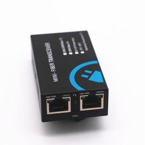 Image 2 - MINI konwerter światłowodowy 2 RJ45 do 1 SC złącze 10/100Mbps z włókna optyczny media konwerter tryb pojedynczy Duplex Wavelenth 1310nm 20km