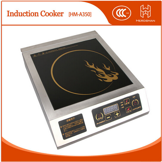 Freeshipping  electromagnetic oven 3500W restaurant machine hotpot makerstainless steel commercial digital induction cooker