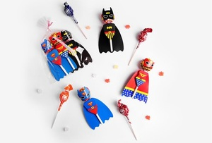 Image 4 - 18pcs Cartoon Candy Lollipop Decoration Cards For Kids Birthday Party Supplies Candy Gift Accessories