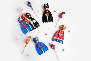 Image 4 - 18pcs Del Fumetto Della Caramella Lollipop Decorazione di Carte Per I Bambini Forniture Festa Di Compleanno Del Regalo Della Caramella Accessori