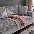 1 шт. чехлы для диванов для гостиной серый кофейный бежевый плюшевый мягкий диван наволочка для дивана современный минималистичный угловой ...