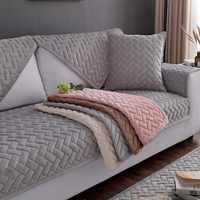 1 pièce housses de canapé pour salon gris café Beige peluche doux canapé coussin housse de canapé moderne minimaliste canapé d'angle serviette
