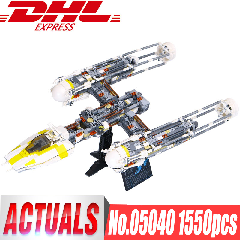Lepin 05040 STAR Y wing Attack fighter Building Assembled Block Brick DIY Toy Educational Gift Compatible legoinglys 10134 WARS цена