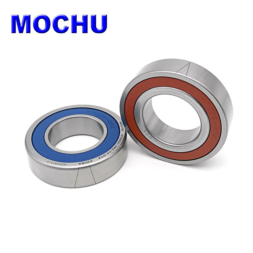 1 Pair MOCHU 7005 H7005C 2RZ P4 DT A 25x47x12 25x47x24 Sealed Angular Contact Bearings Speed Spindle Bearings CNC ABEC-7