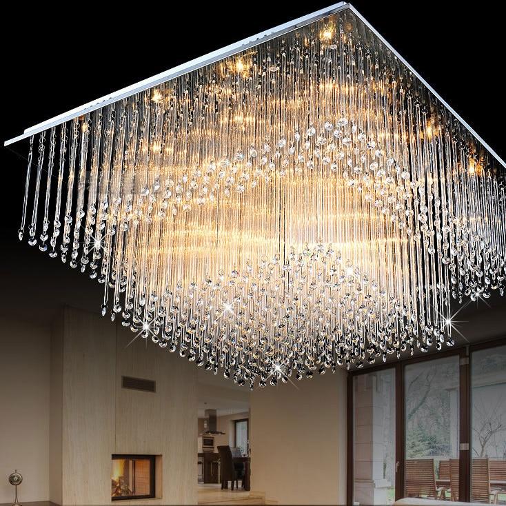 led e14 Modern Stainless Steel Crystal LED Lamp.LED Light.Ceiling Lights.LED Ceiling Light.Ceiling Lamp For Foyer Dinninng Room