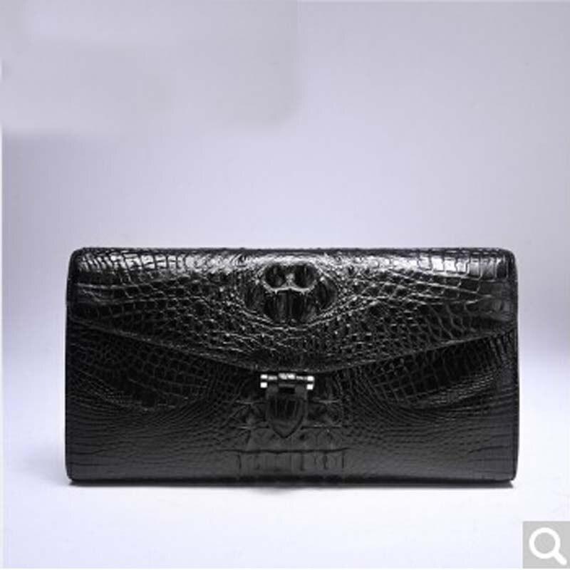 weitasi True crocodile Lady Purse Hand bag crocodile skin women clutch bag black crocodile crocodile cr225r black gold page 8