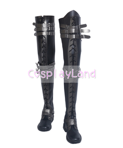 Image 2 - Final Fantasy XV Crowe Altius Cosplay Boots Shoes Anime Halloween Party Cosplay Boots Custom Made for Adult Women Long Shoes